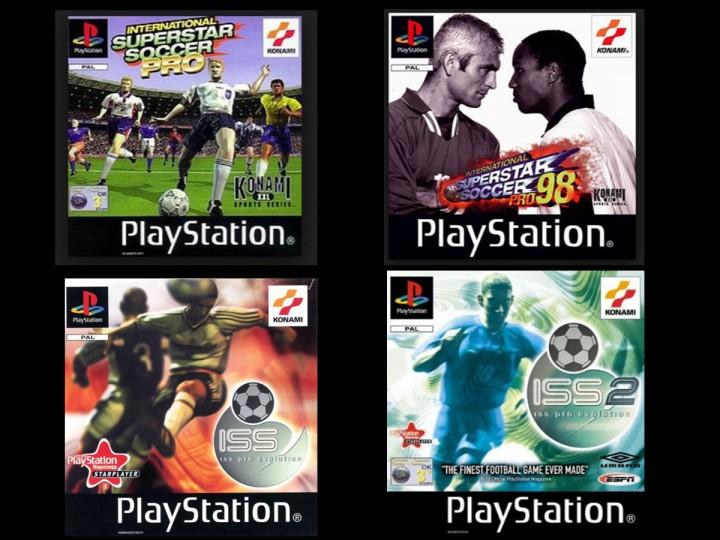 Le cover dei giochi che hanno (ri)scritto la storia dei titoli calcistici dal 1997 al 2000 (PlayStation)