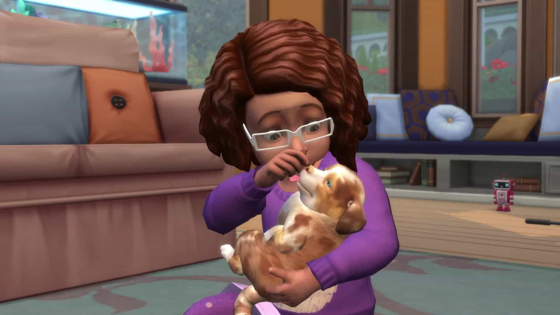 the sims cuccioli che passione