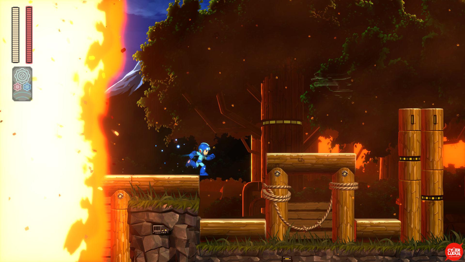 megaman 11 livello fuoco
