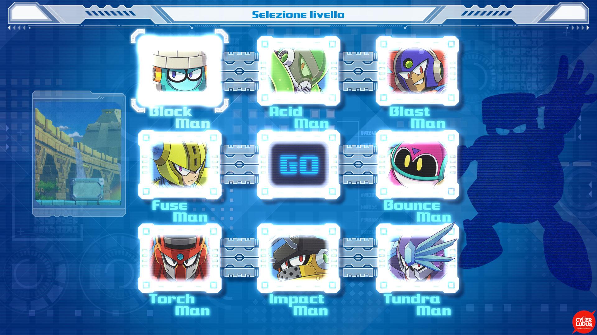 megaman 11 selezione livello