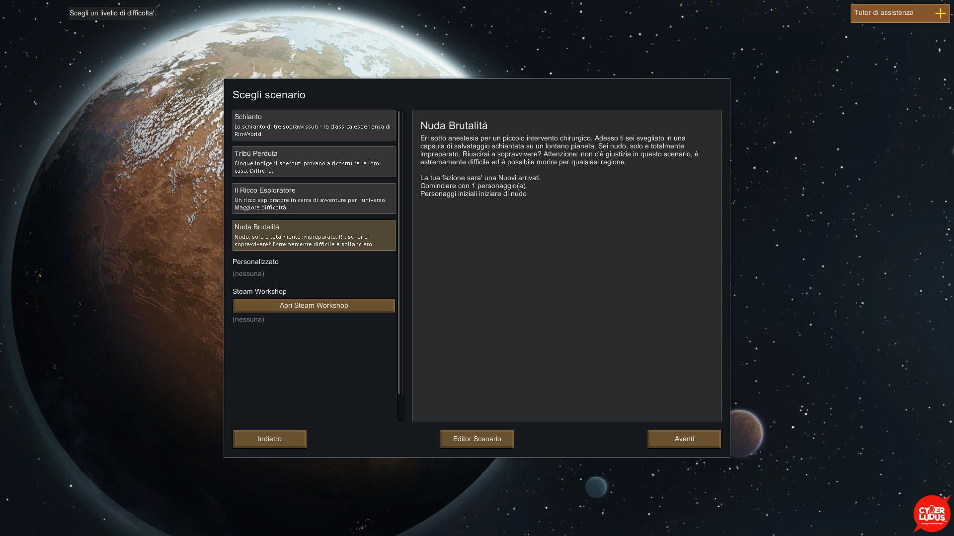 rimworld 1.0 selezione scenario