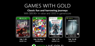 Xbox Games with Gold febbraio 2019